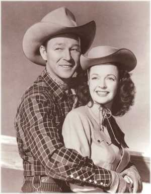 Famous entertainers and husband and wife, Roy Rogers and Dale Evans