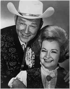 Middle-aged photo of Roy Rogers and Dale Evans