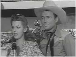 Dale Evans and Roy Rogers singing