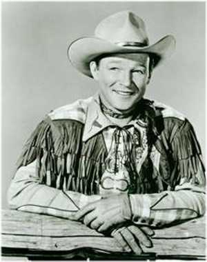 Roy Rogers in a fringed buckskin shirt