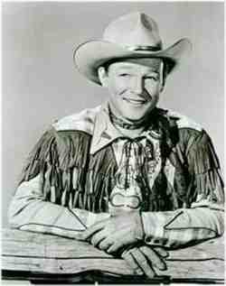 Roy Rogers in a fringed shirt
