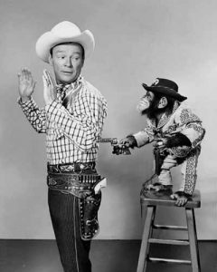 Roy Rogers and a chimpanzee
