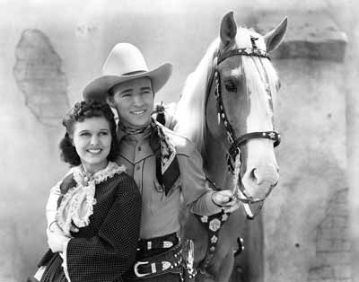 Roy Rogers and Lynne Roberts