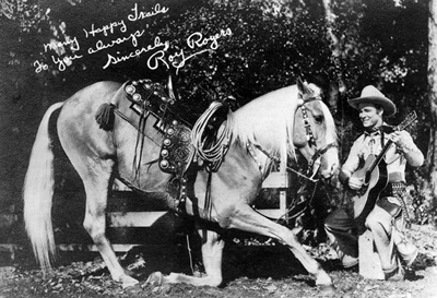 Roy Rogers and a bowing Trigger
