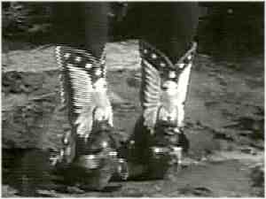 Close-up of Roy Rogers' double-eagle boots